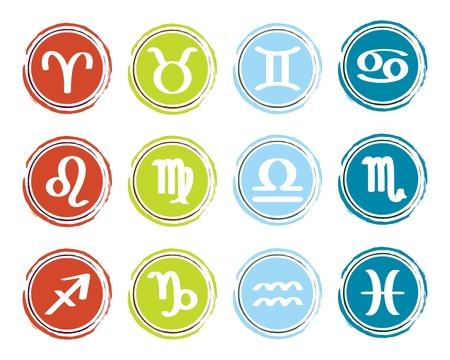skorpion: Horoskop Tierkreiszeichen, Ikonen eingestellt Illustration