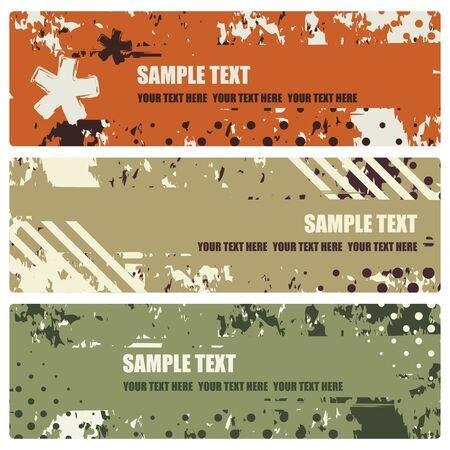asterisk: set of grunge banners, vector illustration