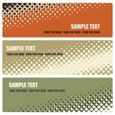 set of abstract mosaic banners, vector illustration Stock Vector - 15286330
