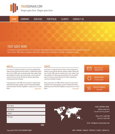 website template: elegant website template, vector illustration