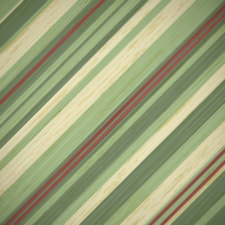 stripes: vintage christmas card background with red and green stripes, vector illustration