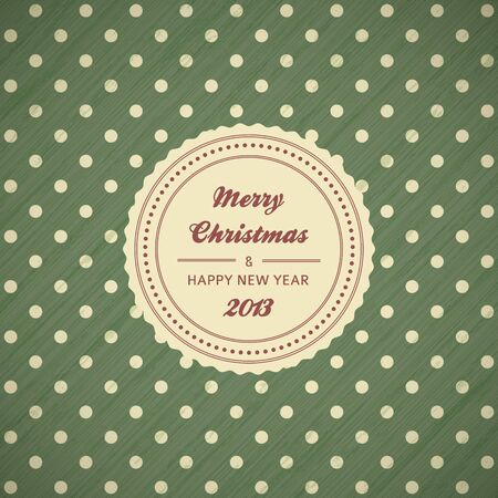 vintage christmas card background with polka dots,  illustration Vector