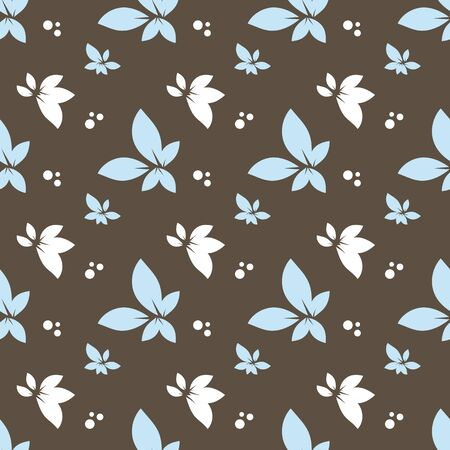 web2: seamless pattern with flowers and dots, vector illustration