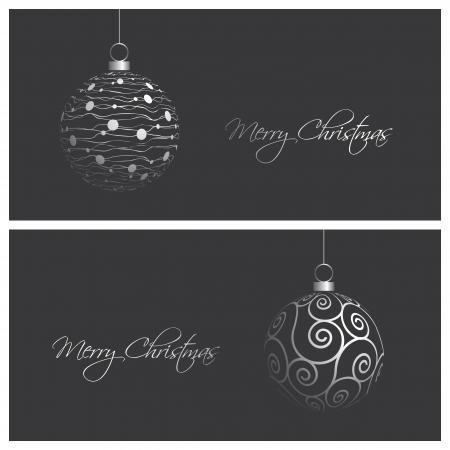 minimalista: állítsa a modern és elegáns karácsonyi kártya háttér, vektoros illusztráció