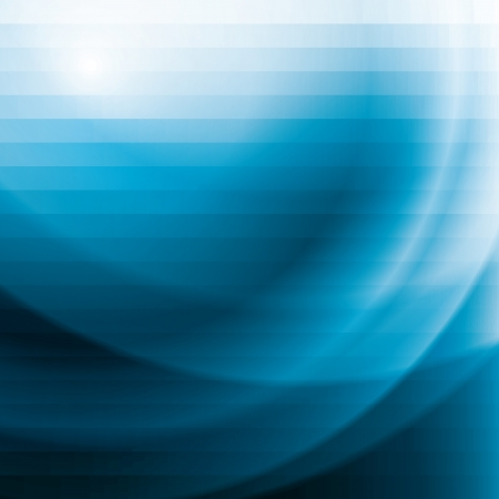 blue waves vector: blue business background with stripes and waves, abstract vector illustration