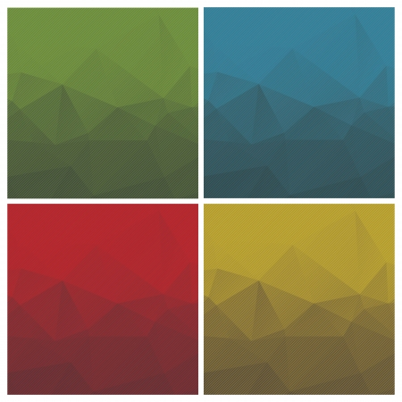 ensemble de milieux géométriques abstraites avec des triangles et des rayures, illustration vectorielle