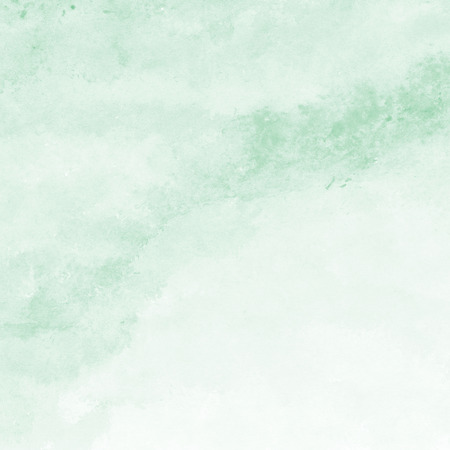 green in hand: mint green watercolor texture background, hand painted Stock Photo