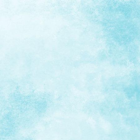 柔らかい青い水彩テクスチャ背景手描き