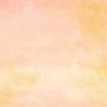 桃とオレンジの水彩テクスチャ背景手描き