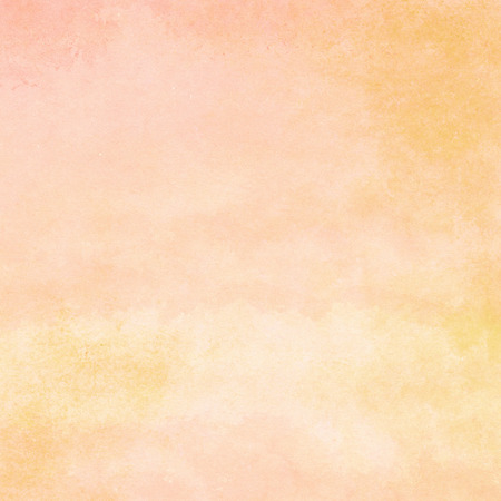 peaches: peach and orange watercolor texture background, hand painted Stock Photo