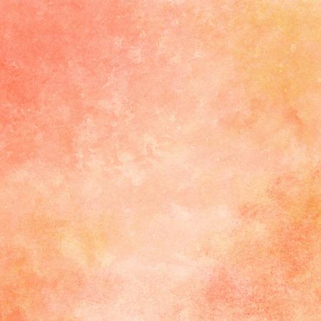 perzik en oranje aquarel textuur achtergrond, met de hand beschilderd