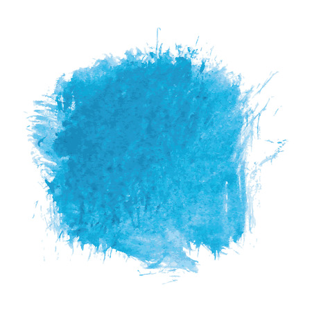 hand painted: blue watercolor texture background, hand painted vector illustration Illustration