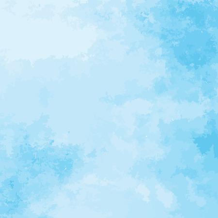 푸른 수채화 질감 배경, 손으로 그린 벡터 일러스트 레이 션