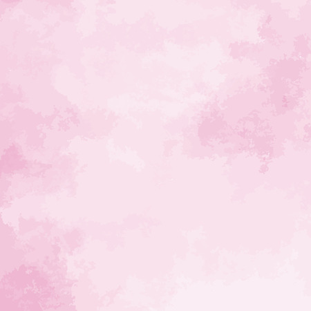 pink watercolor texture background, hand painted vector illustration Ilustração