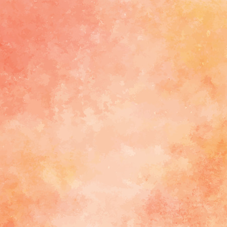 peach and orange watercolor texture background, hand painted vector illustration Vettoriali