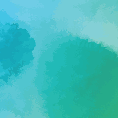 그린: green and blue watercolor texture background, hand painted vector illustration