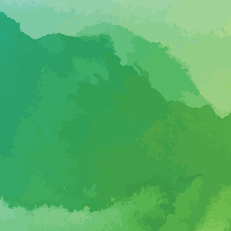 그린: green watercolor texture background, hand painted vector illustration