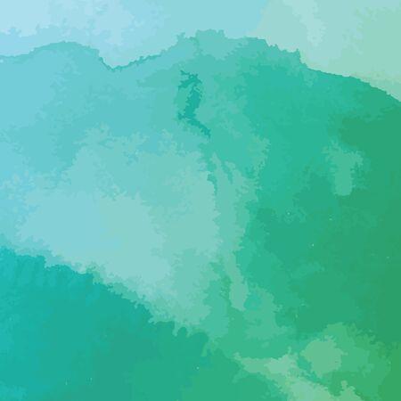 textury na pozadí: zelené a modré akvarel textury na pozadí, ručně malované vektorové ilustrace