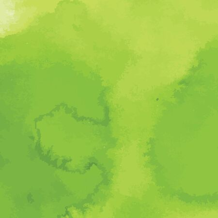 hand painted: green watercolor texture background, hand painted vector illustration