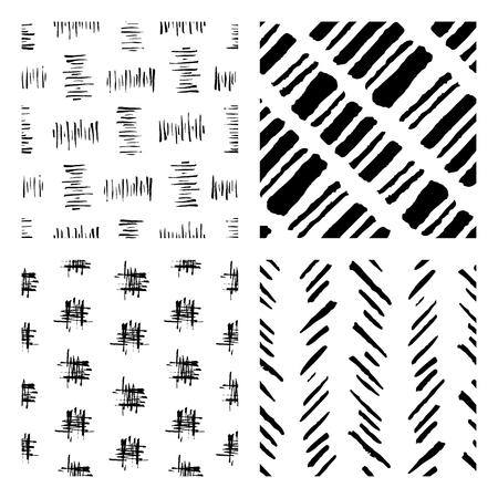 abstract seamless: seamless hand drawn ink patterns, abstract brush doodles Illustration