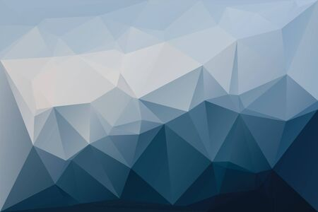 Abstract geometric background with triangles. Vector polygonal texture background. Deep, navy blue abstract business background. EPS10 vector illustration. Ilustração