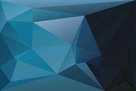 Fondo geométrico abstracto con triángulos. Fondo de textura poligonal de vector. Fondo de negocio abstracto azul profundo. Ilustración de vector Eps10.