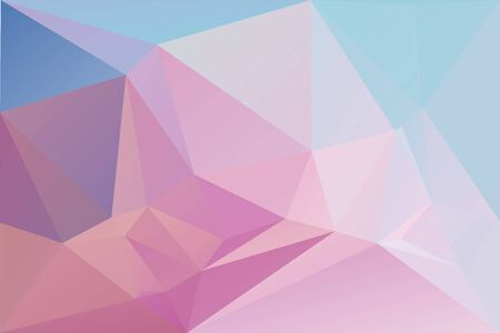 Abstract geometric background with triangles. Vector polygonal texture background. Abstract business background. EPS10 vector illustration. Pink, purple, blue. Ilustração