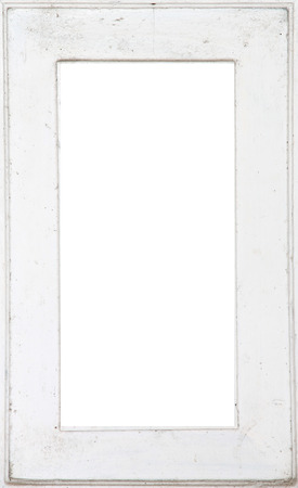 old wood frame or windows in white color. photo
