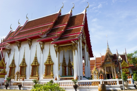 chalong: Chalong temple at sunny day Stock Photo