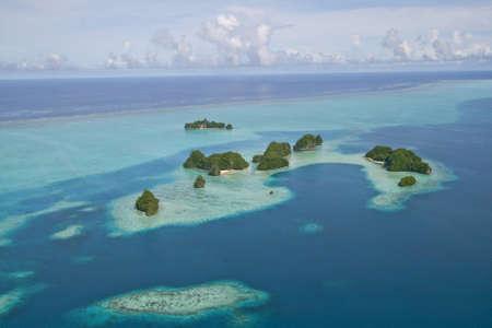 bird eye view: small islands around palau Micornesia