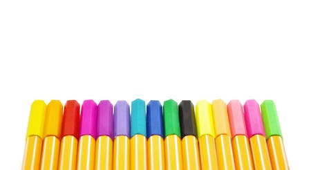 A full set of colorful lecture pen on white background