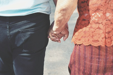 Hand in hand: hold parent's hand when they get older