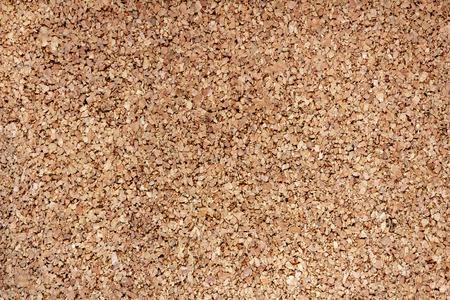 Cork notice board. Natural cork texture. Top view background Standard-Bild