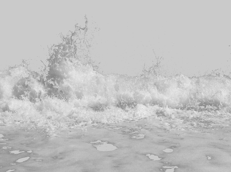 white sea foam from the surf, isolated on a bright white background, the concept of summer vacations, place for text Фото со стока
