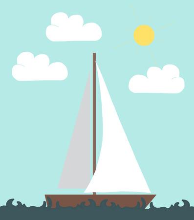 barca a vela: Barca a vela in stile appartamento