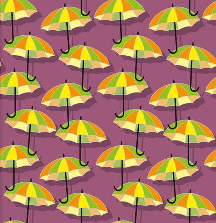 bright colour: Umbrellas seamless pattern in bright colour