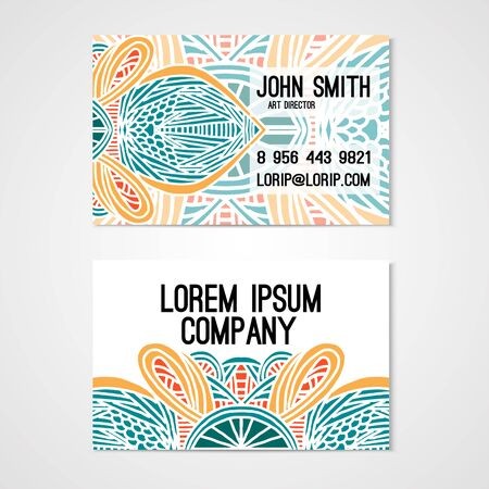 cutaway: Cutaway template whit hand drawn ornament. Corporate identity.