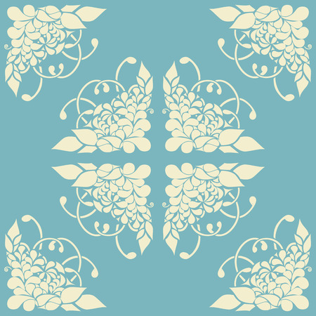 beautify: Background with abstract floral pattern. Vector illustration. Illustration
