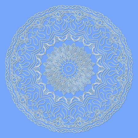 cutaway drawing: Abstract hand drawn outline circular ornament. Mandala. Illustration