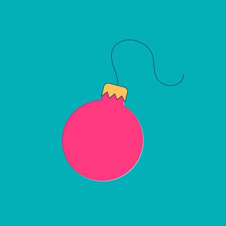 santa funny: Ball - toys on christmas tree. Christmas collection.