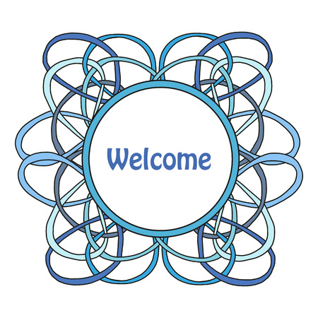 lacework: Round frame of the loop. Vector illustration