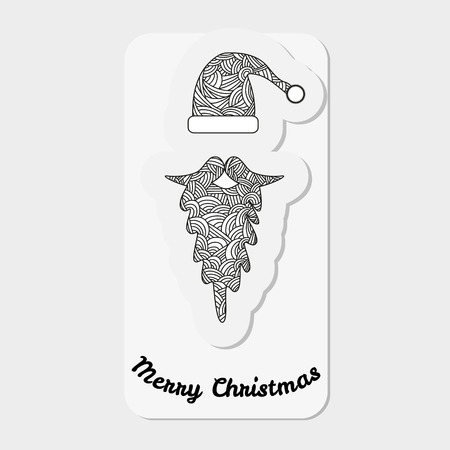 naughty or nice: Accessories Santa Claus - hat and beard.