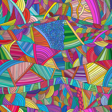 scaly: Seamless patterns with hand-drawn doodle waves and lines.