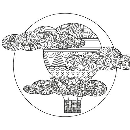 Doodle Barco Flotando Sobre Las Olas. Puede Ser Utilizado Para El ...