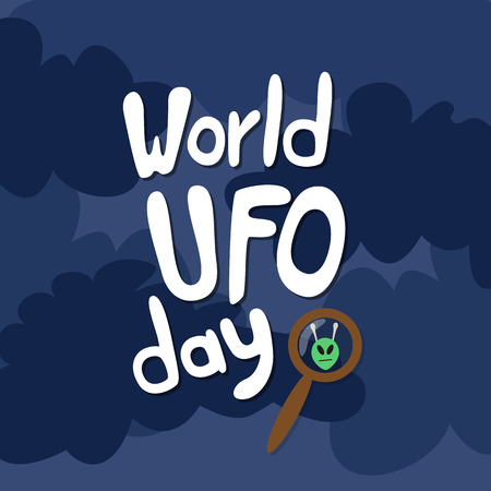 space invaders: Poster for World UFO day. Vector Illustration. Illustration