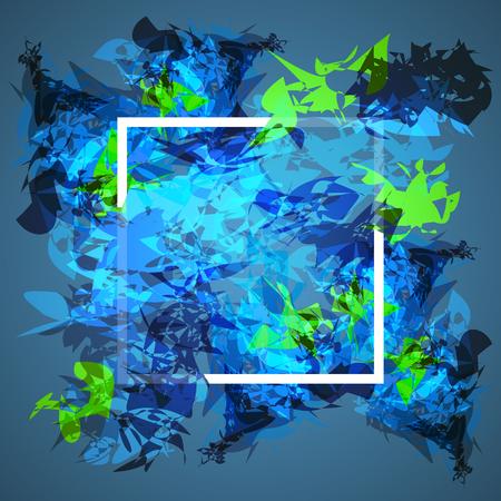 Zusammenfassung Rahmen-Design. Konzept Abdeckung für elektronische Musik Grafik Vektor-Illustration.