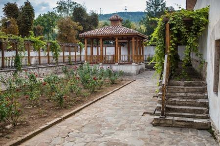 Bakchchisaray, Crimea, Russia - September 2016: Garden in Khan palace in Bakhchisaray Editorial