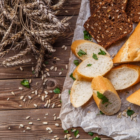 sunflower seeds: Baguette ,bread with sunflower seeds