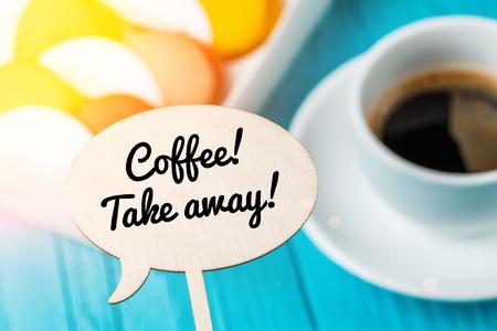 Photo of plaque, macaroons, coffee