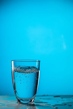 Glass of water ,studio photo